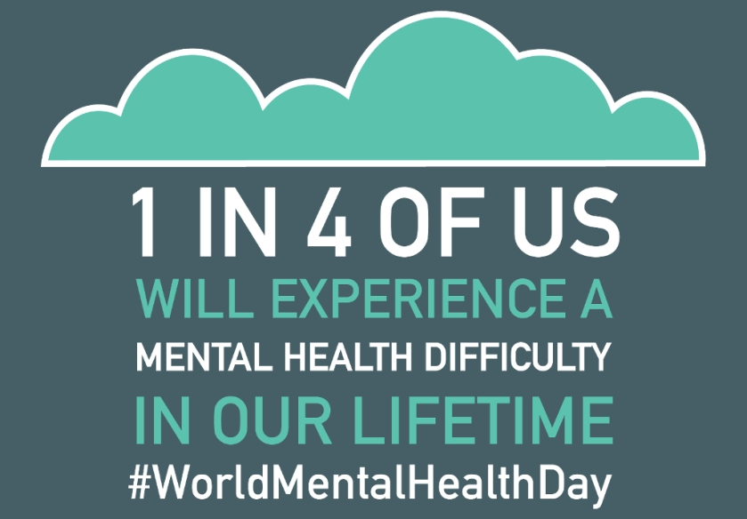 1 in 4 will experience a mental health difficulty in their lifetime